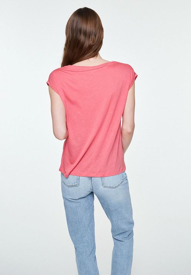 T-shirt uni rose en tencel - jilaa - Armedangels num 1