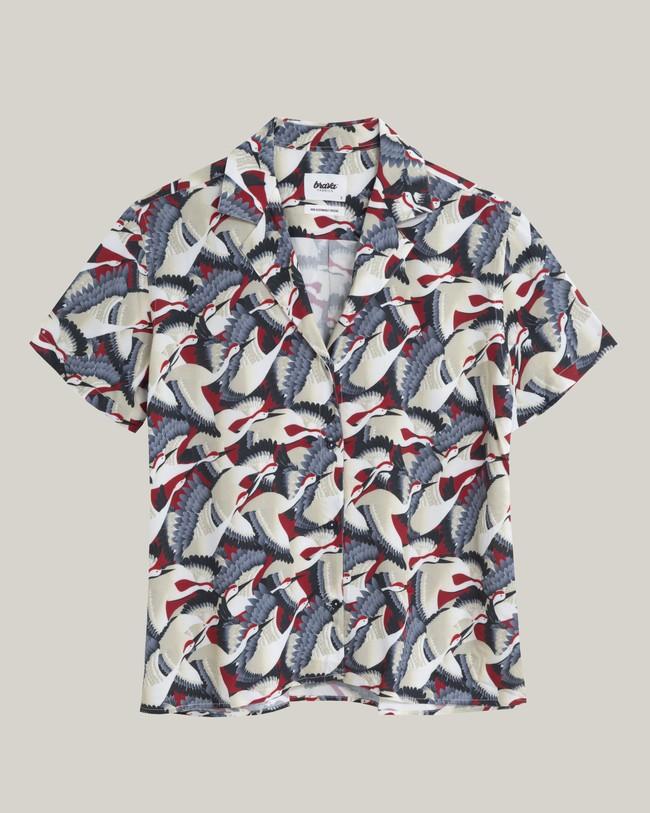 Crane for luck aloha blouse - Brava Fabrics num 1