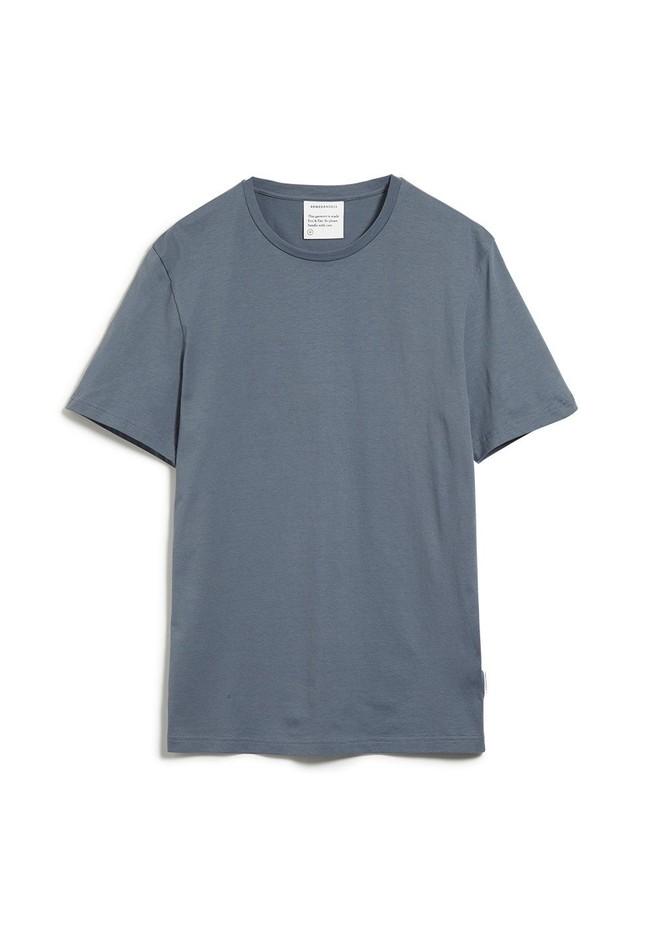 T-shirt bleu en coton bio - jaames - Armedangels num 5