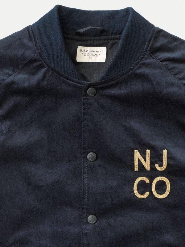 Veste bomber marine en coton bio - mark - Nudie Jeans num 3
