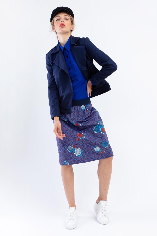 """Veste """"la redoutable"""" en coton upcyclé bleu marine - Bleu Tango"""