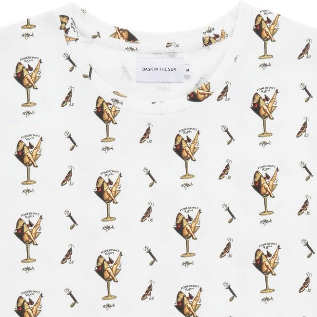 T-shirt en coton bio white cocktail - Bask in the Sun num 1
