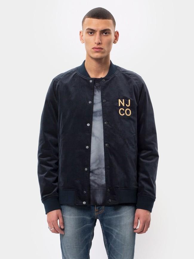 Veste bomber marine en coton bio - mark - Nudie Jeans