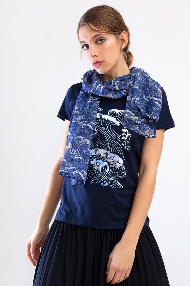 T-shirt méditerranée - Bleu Tango num 1