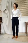 L'authentique marine - pantalon droit en coton biologique - C. Bergamia - 2