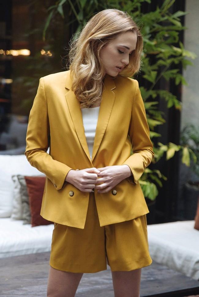 Short tailleur rome jaune safran - 17h10 num 4