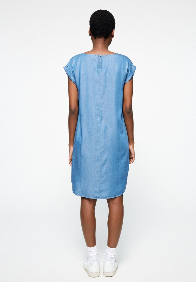 Robe bleue en coton bio - hilaa - Armedangels num 2