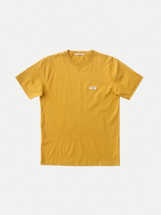 T-shirt jaune en coton bio - daniel - Nudie Jeans num 4