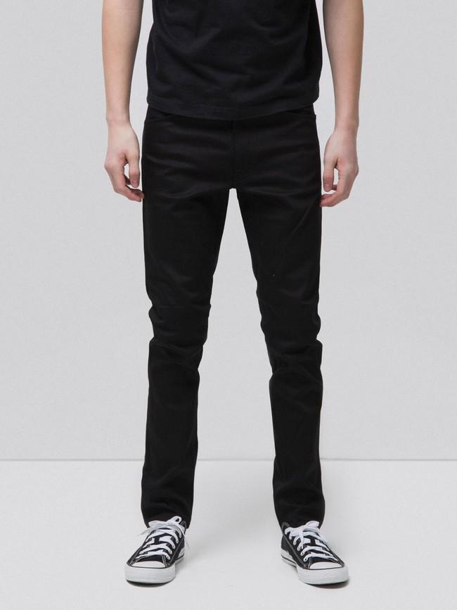 Jean slim noir coton bio - lean dean dry cold black - Nudie Jeans
