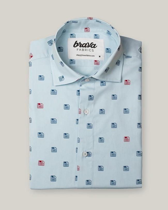 90's diskettes printed shirt - Brava Fabrics num 1