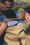 Sac à dos roll top en toile cirée et cuir - bosta - Bhallot - 6