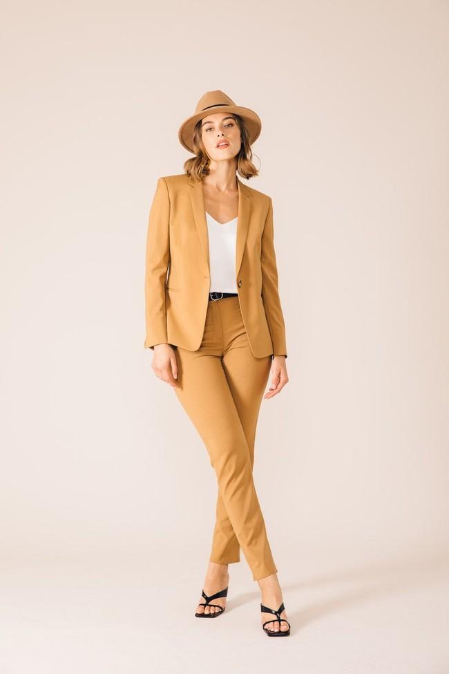Pantalon tailleur new york camel - 17h10 num 2