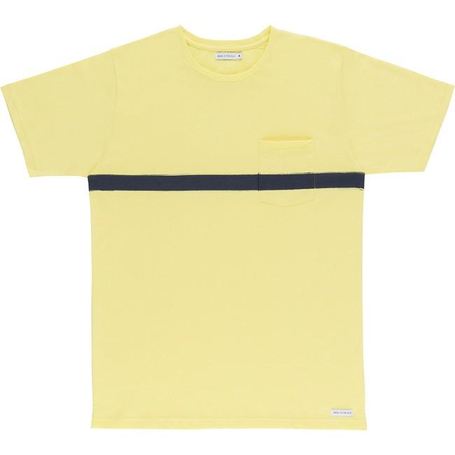 T-shirt en coton bio yellow baztan - Bask in the Sun