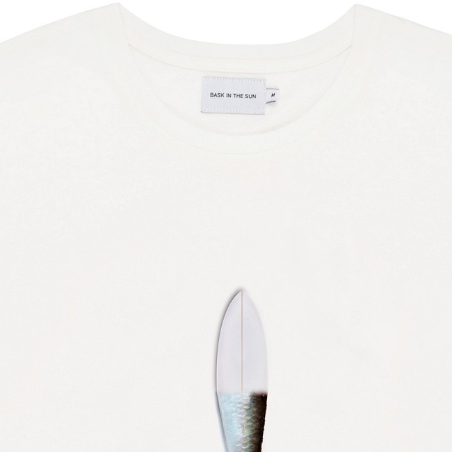 T-shirt en coton bio white surfish - Bask in the Sun num 1