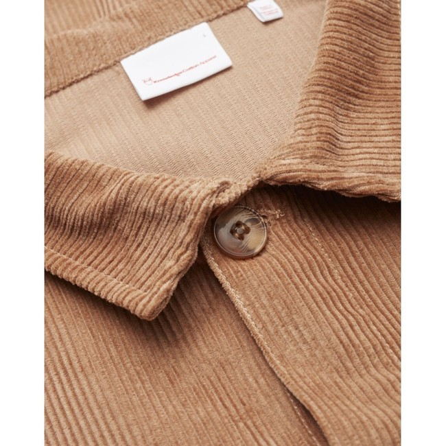 Veste velours beige en coton bio - Knowledge Cotton Apparel num 2
