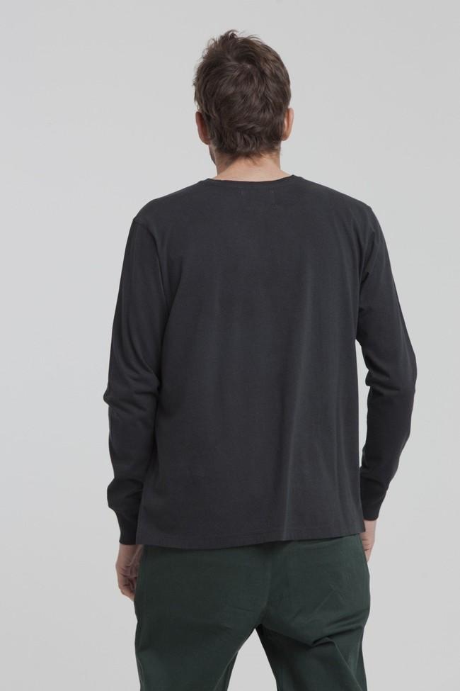T-shirt manches longues noir en coton bio - brad - Thinking Mu num 2