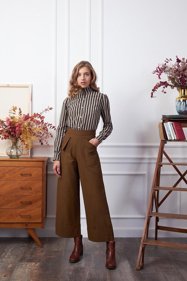 Pantalon kool toile châtaigne - Les Récupérables