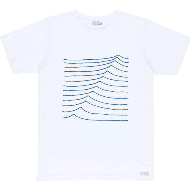 T-shirt en coton bio white swell - Bask in the Sun
