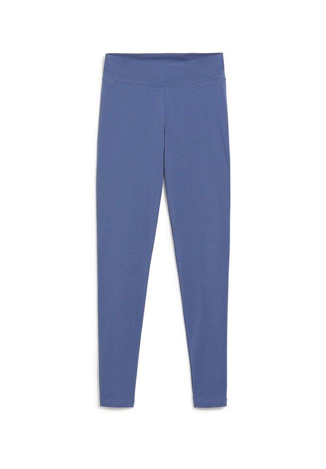 Legging bleu indigo en coton bio - faribaa - Armedangels num 4