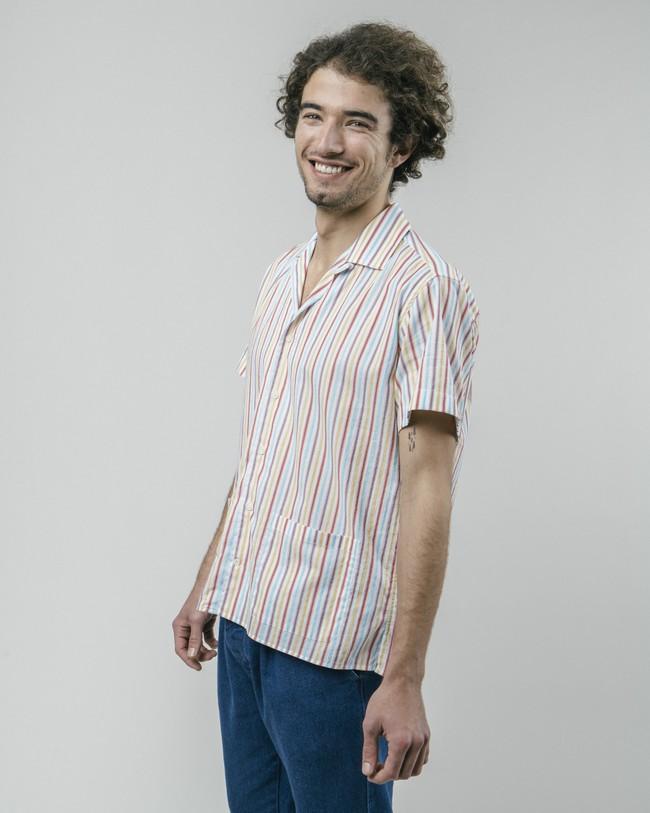 Downtown stripes aloha shirt - Brava Fabrics