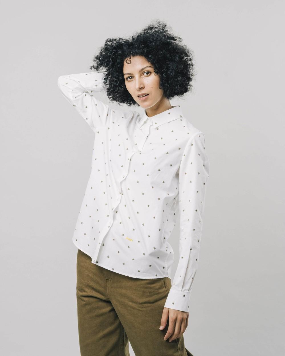 Honey bee printed blouse - Brava Fabrics