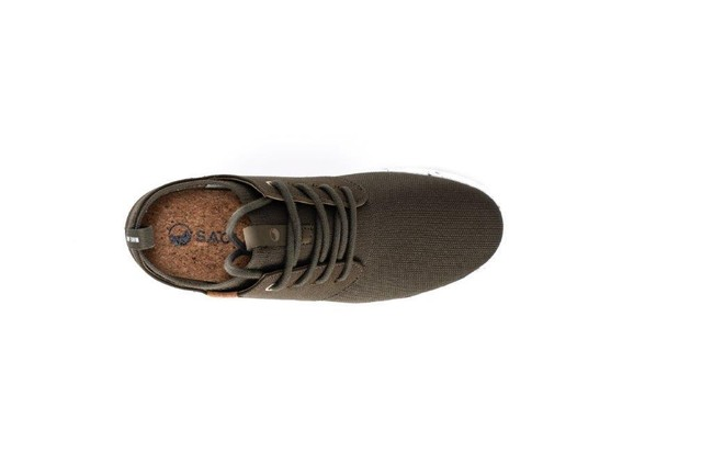 Chaussures recyclées semnoz femme olive night - Saola num 3
