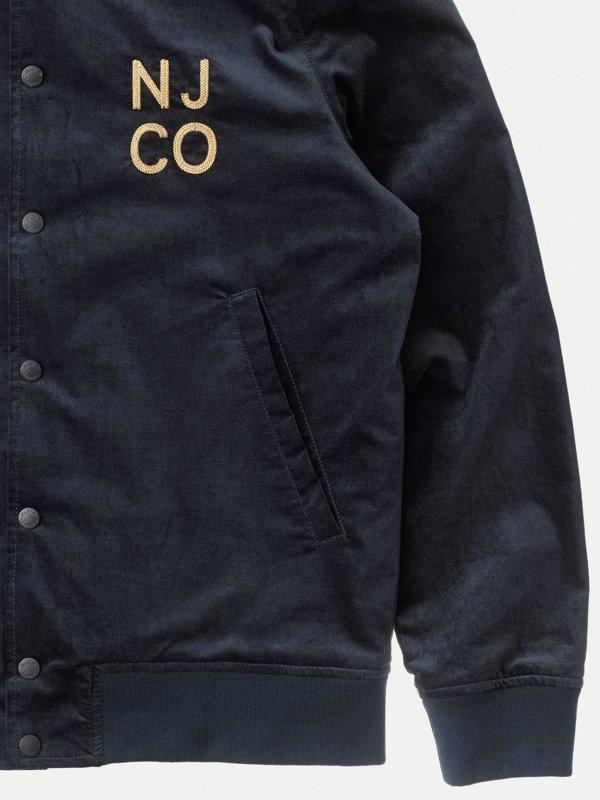 Veste bomber marine en coton bio - mark - Nudie Jeans num 5