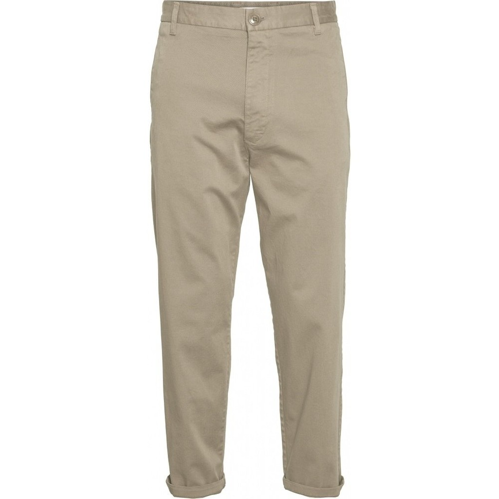 Chino ample beige en coton bio - bob - Knowledge Cotton Apparel