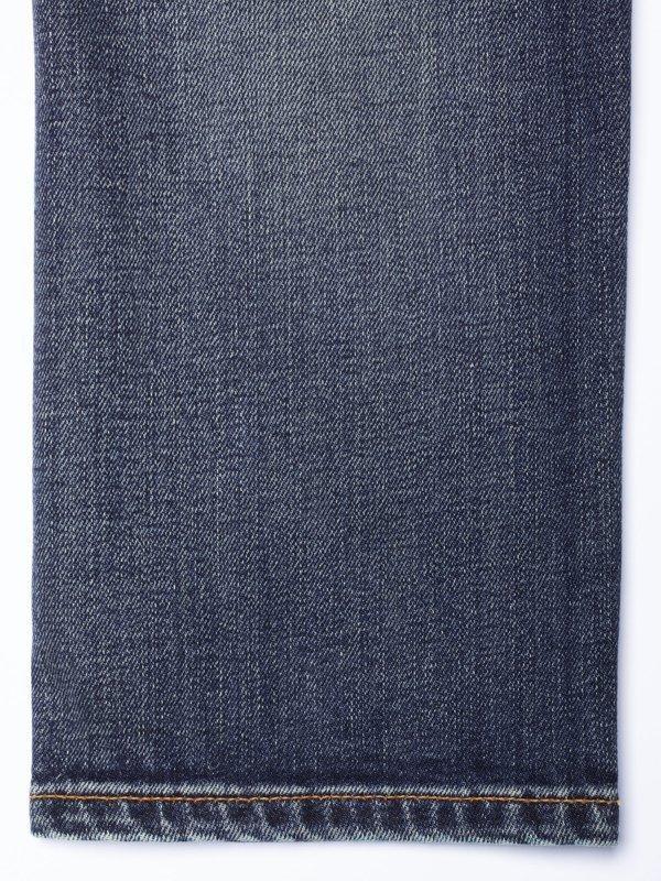 Jean bleu délavé en coton bio - thin finn blue temple - Nudie Jeans num 8