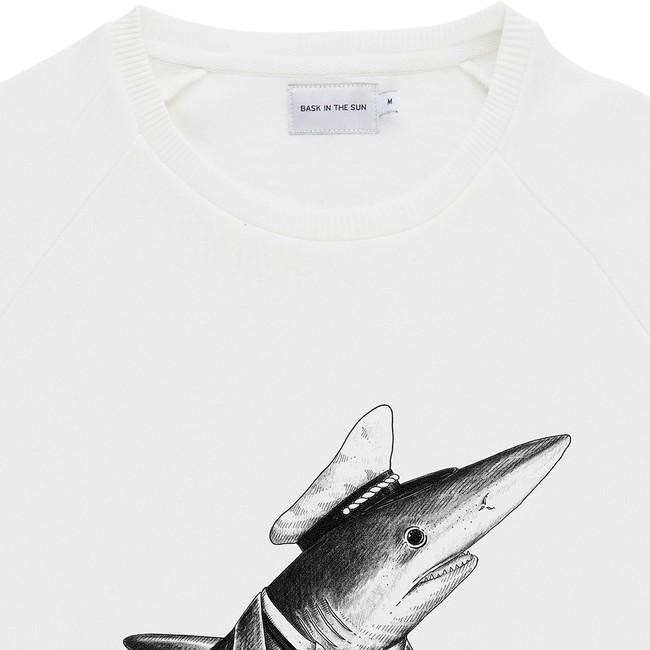Sweat en coton bio white shark - Bask in the Sun num 1