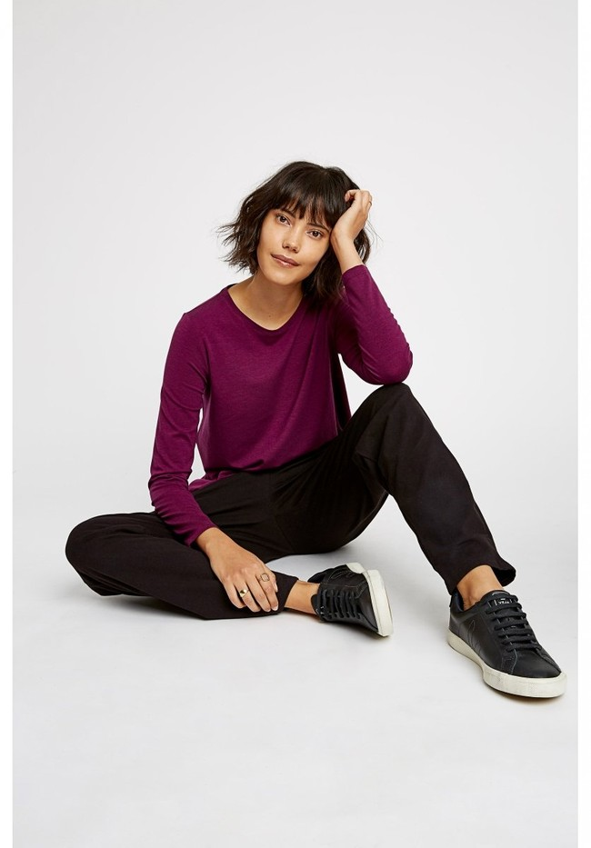 T-shirt manches longues violet - amara top - People Tree num 1