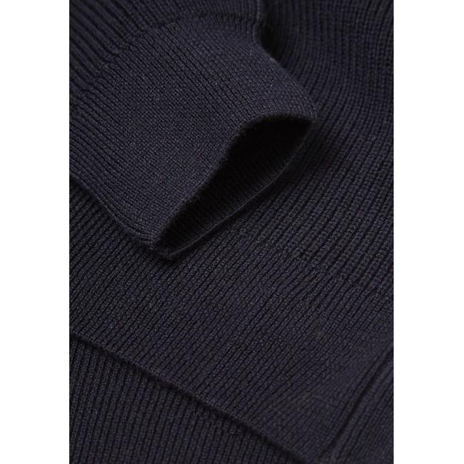 Pull col zippé marine en coton et laine bio - Knowledge Cotton Apparel num 3