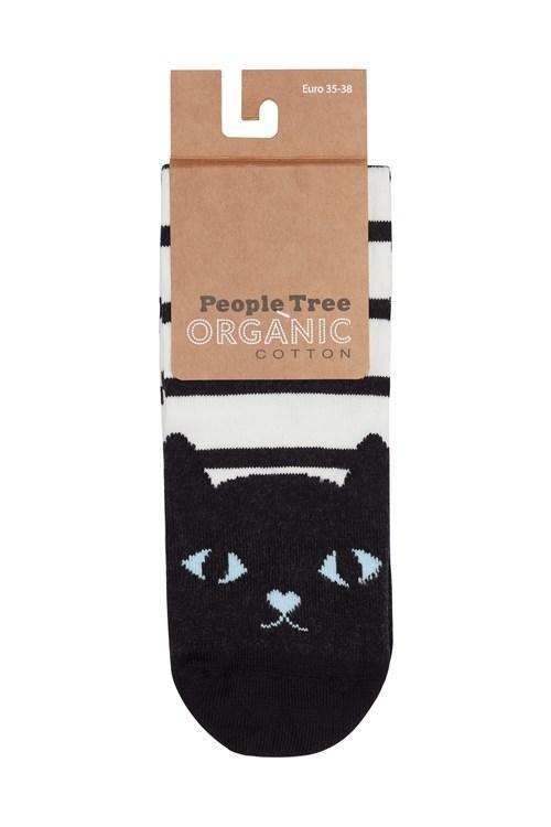 Pack 3 paires de chaussettes en coton bio - cat - People Tree num 2