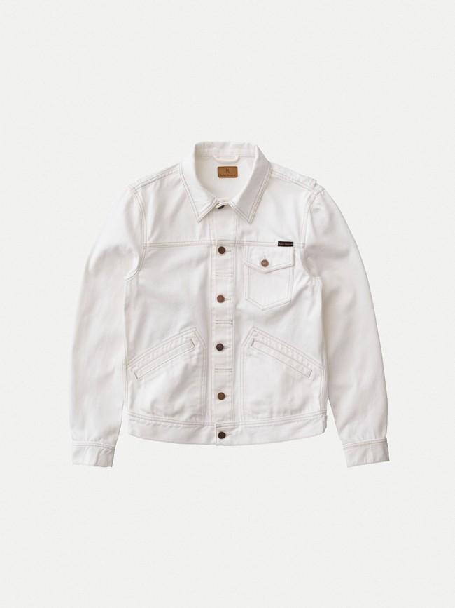 Veste en jean écru en coton bio - tommy - Nudie Jeans num 5