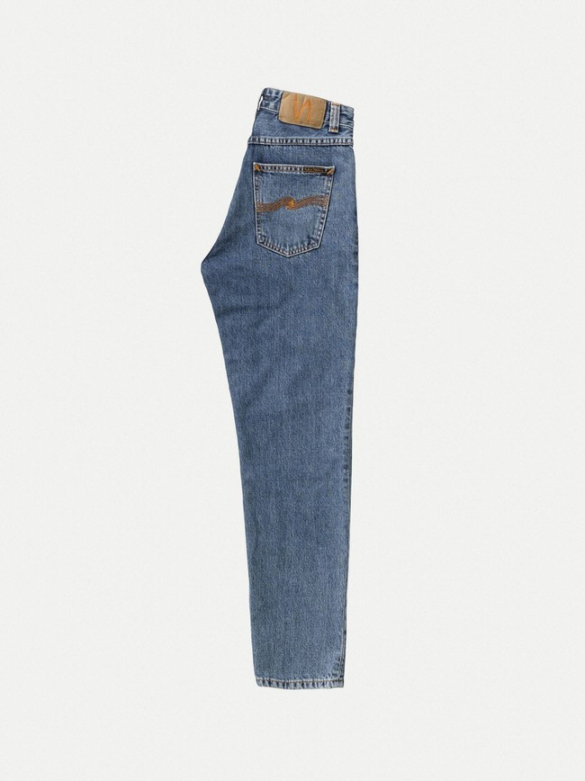 Jean mom bleu clair en coton bio - breezy britt friendly blue - Nudie Jeans num 6