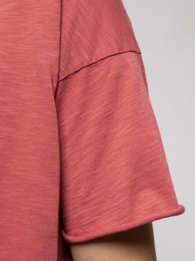 T-shirt corail en coton bio - roger - Nudie Jeans num 4