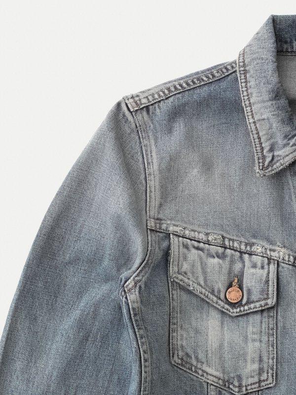 Veste en jean coton bio - billy shimmering - Nudie Jeans num 7