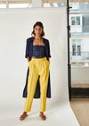 Pantalon azur // jaune - Bagarreuse - 1