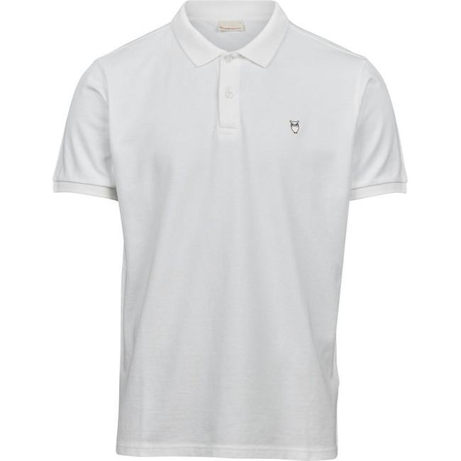Polo blanc en coton bio - pique polo - Knowledge Cotton Apparel
