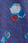 "Veste ""la redoutable"" motif wax non merci - Bleu Tango - 5"
