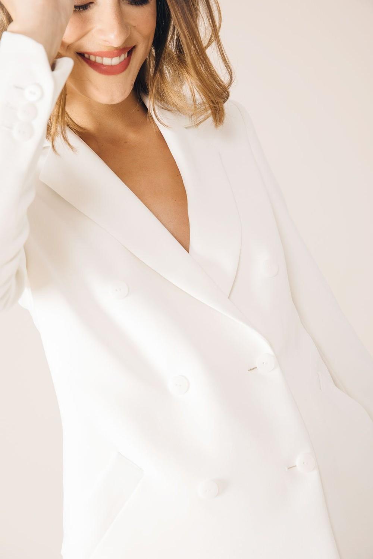 Veste tailleur moscou blanche - 17h10