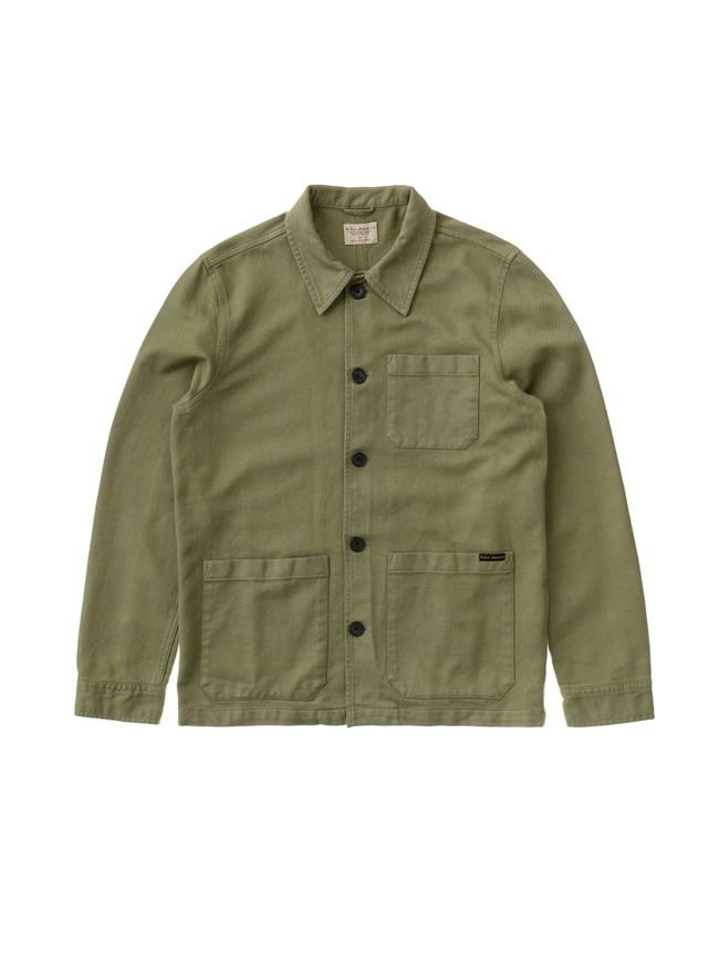Veste de travail verte en coton bio - barney worker - Nudie Jeans num 4