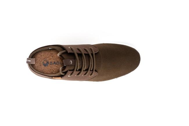 Chaussures recyclées semnoz homme chocolat - Saola num 3