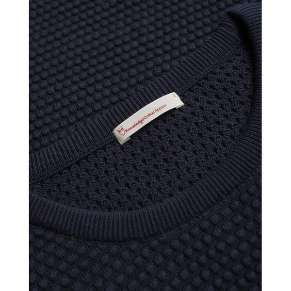Pull bleu nuit en coton bio - sailor pattern knit - Knowledge Cotton Apparel num 2