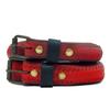Belt vélo rouge unie très fine - La Vie est Belt - 1