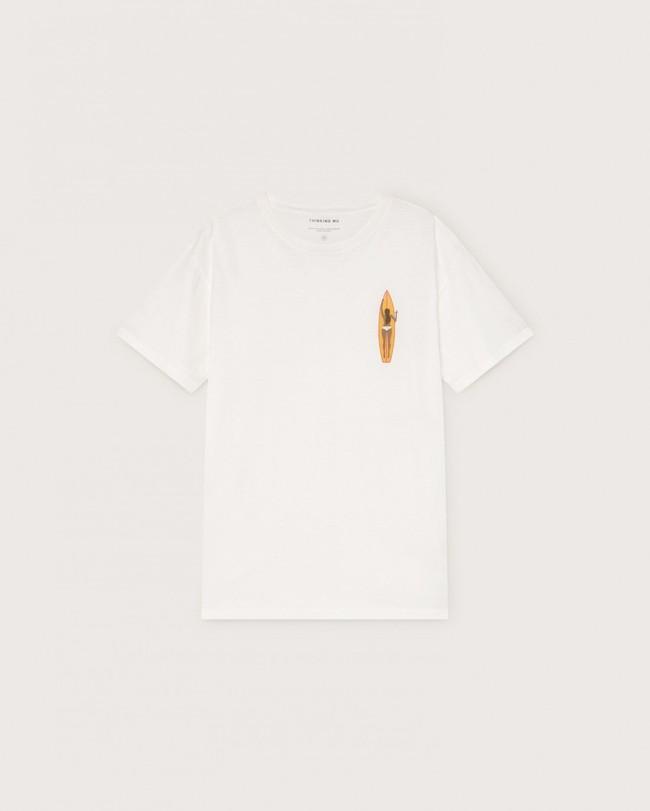 T-shirt blanc imprimé en coton bio - ceylan - Thinking Mu num 4