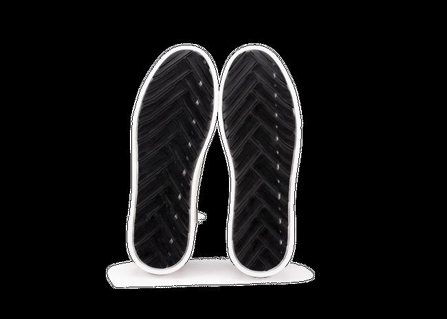 Chaussure en gravière cuir crème / semelle blanc - Oth num 4