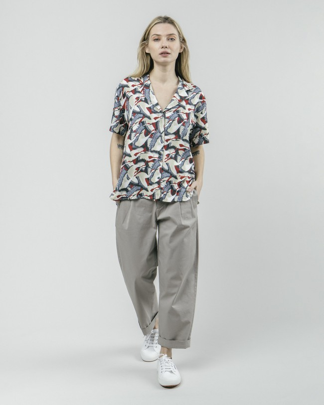 Crane for luck aloha blouse - Brava Fabrics num 3