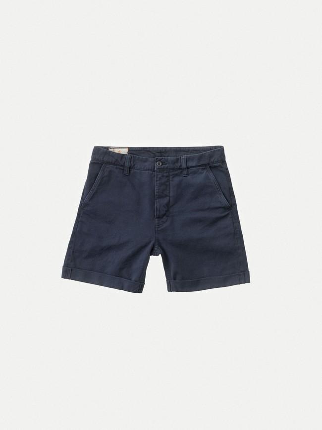 Short marine en coton bio - luke - Nudie Jeans num 5