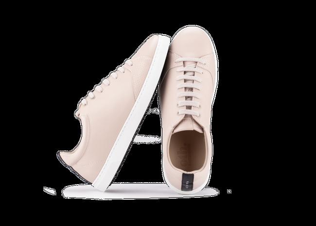 Chaussure en gravière cuir nude / semelle blanc - Oth num 1